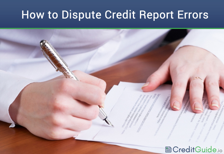 how to dispute credit report errors