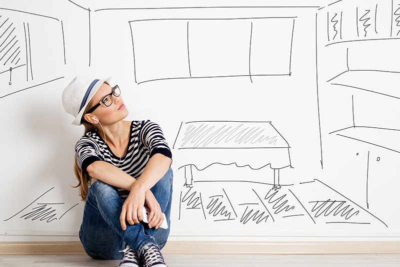 woman-plans-for-her-dream-home